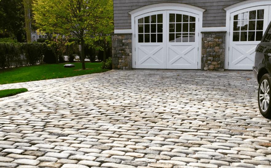reclaimed cobblestone driveway, reclaimed cobblestones